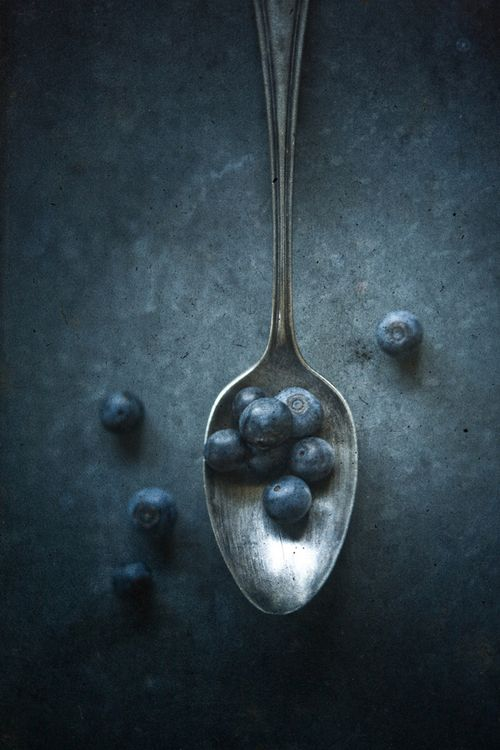 Food styling still life photography - Blueberries by Mark Boughton