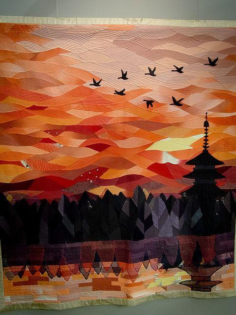 sunset #artquilt from the Tokyo International Quilt Show