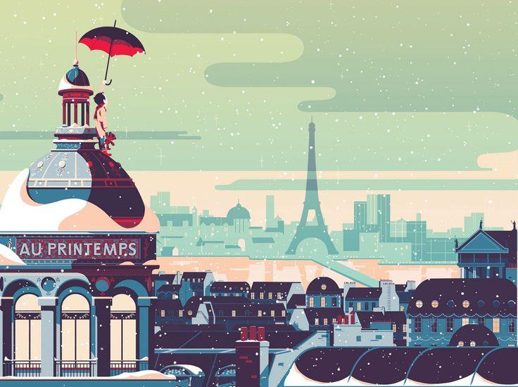 Tom Haugomat es un ilustrador que nació en la ciudad de París, donde todavía reside y que tas acabar sus estudios de comunicación visual en la famosa escuela Gobelins se embarcó en la una exitosa carrera en el mundo de la animación. Pero en los últimos tiempos su amor por la ilustración ha ido creciendo. Hoy en día Tom es un ilustrador consagrado con un buen trabajo basado en un fuerte sentido de la composición y una gran paleta de colores, que le permite crear atmósferas melancólicas llenas…