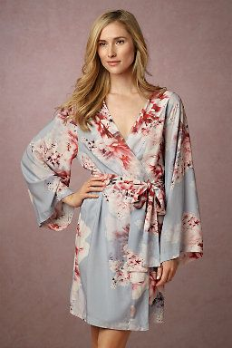 Botanic Garden Robe- to wear while they do your hair and makeup.