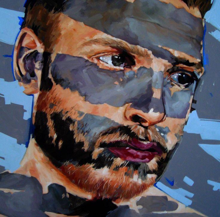 Separation 2 2015 by Corne Eksteen, Oil on canvas 1000 x 1000 mm