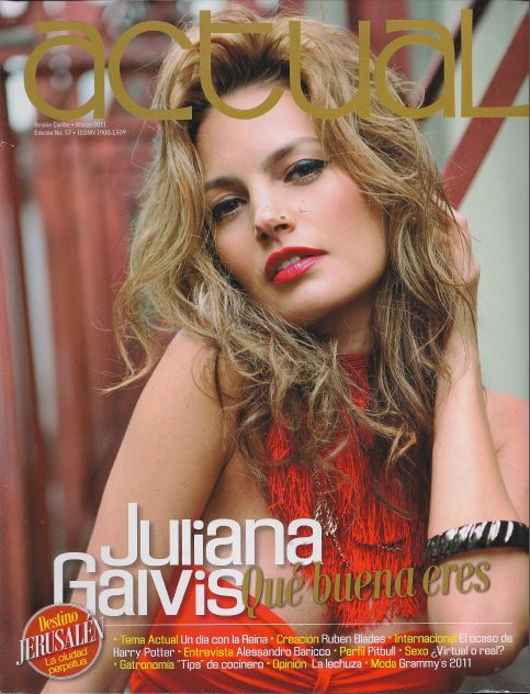 Juliana Galvis en revista Actual