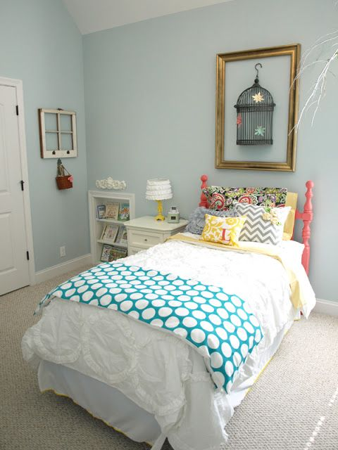 girl bedroom colors. Less Than Perfect Life of Bliss  Spring Garden Party A Little Girl s Room wall color is Sherwin Williams Tradewind mixed at V 133 best Kids Rooms Paint Colors images on Pinterest paint