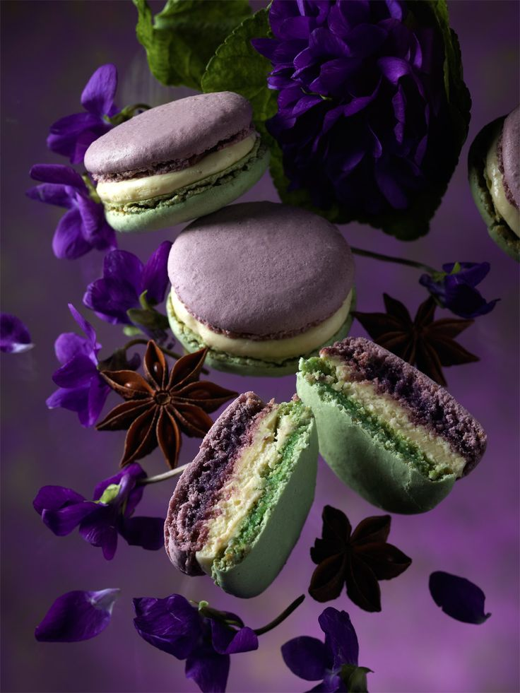 The prettiest macaron -MACARON JARDIN D'ANTAN (Violette & Anis) by Pierre Herme - collection of macarons on theme of imaginary gardens