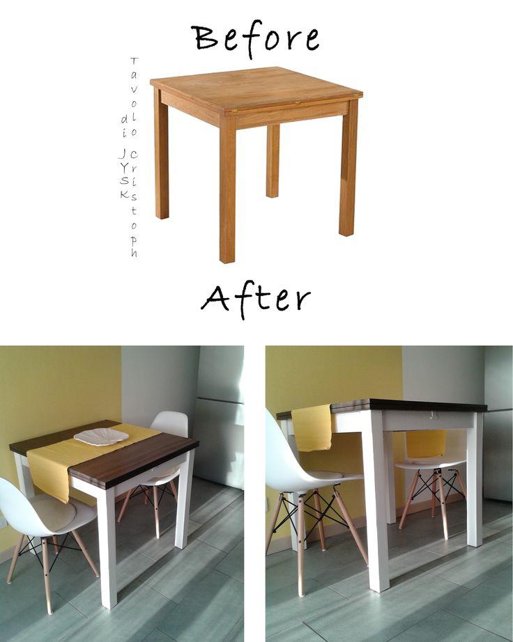 """Customize your table - DIY Decora il tuo tavolo con i tuoi colori.  Tavolo Jysk """"Cristoph"""""""