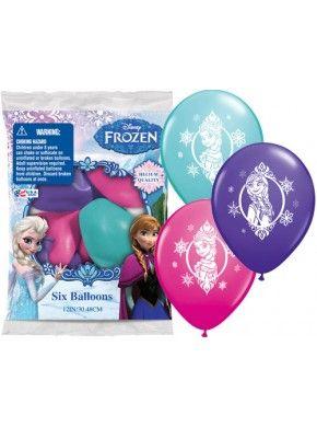 Disney Frozen Printed Latex Balloons - 6 PACK