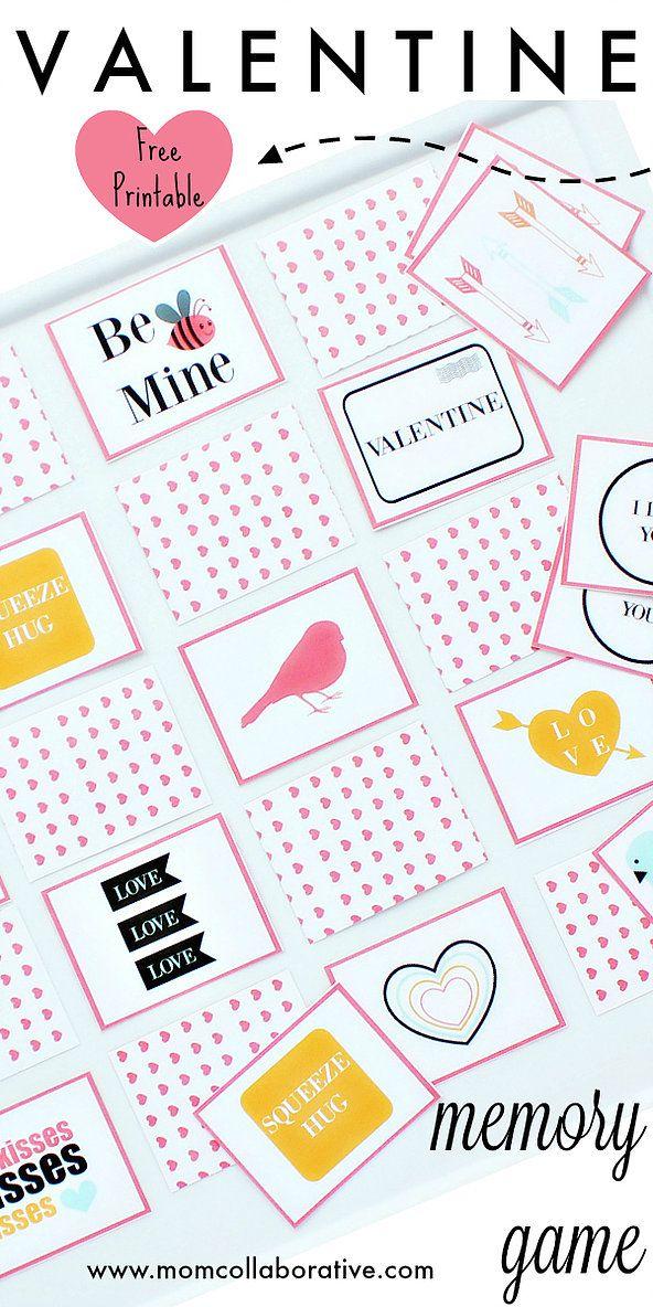 Valentine's Memory Game for kids! Valentines printables