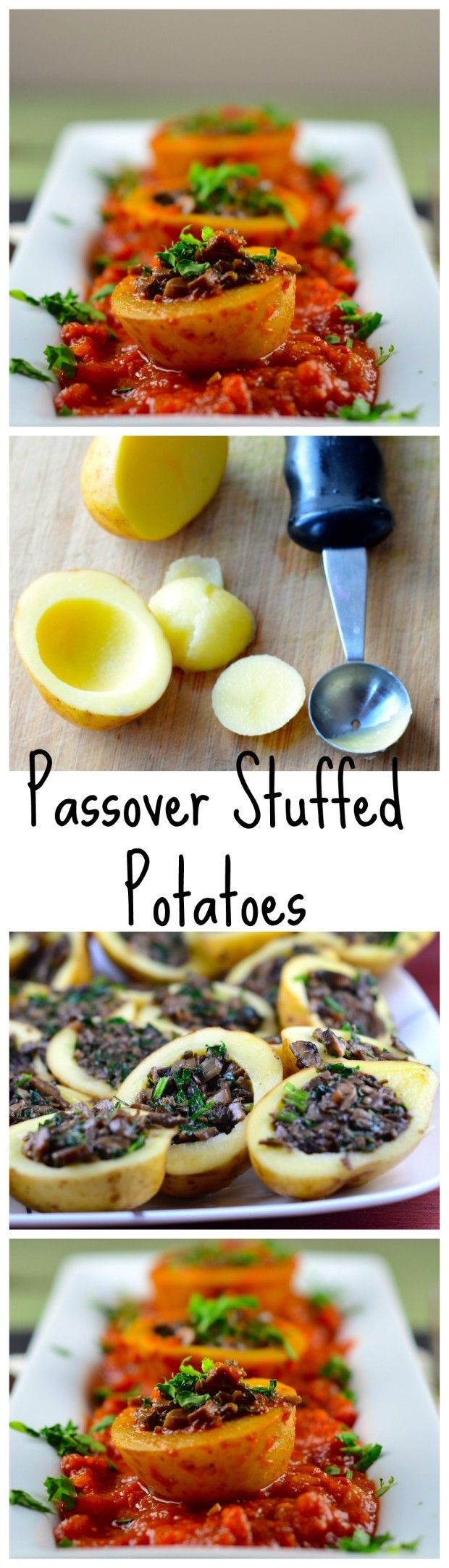 Mushroom Stuffed Potatoes #vegan #vegetarian #glutenFree #passover #kosher…