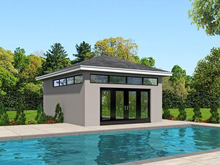 Plan 006p 0004 Pool House Plans Pool House Bathroom Pool House Designs