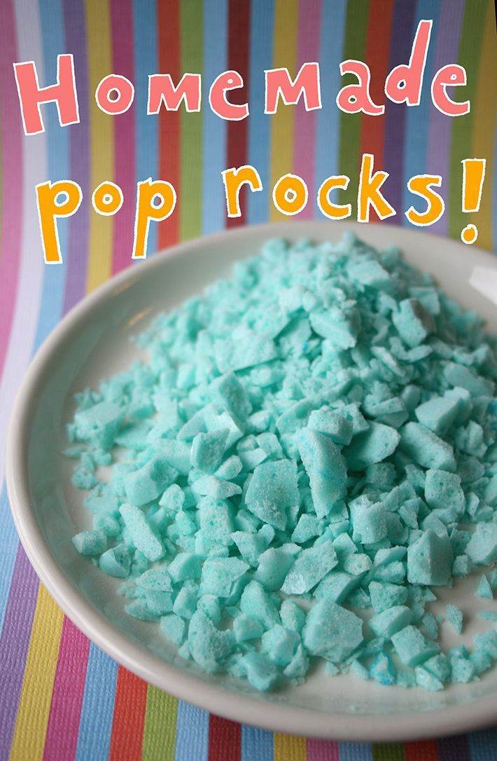 If you really want to knock people's socks off, all you have to do is make homemade Pop Rocks. It's easy to do, and requires no fancy equipment. On Craftsy!