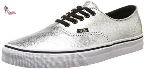 Vans U Authentic Decon, Sneakers Basses mixte adulte, Argent (Metallic/Silver/Black), 40.5 EU - Chaussures vans (*Partner-Link)