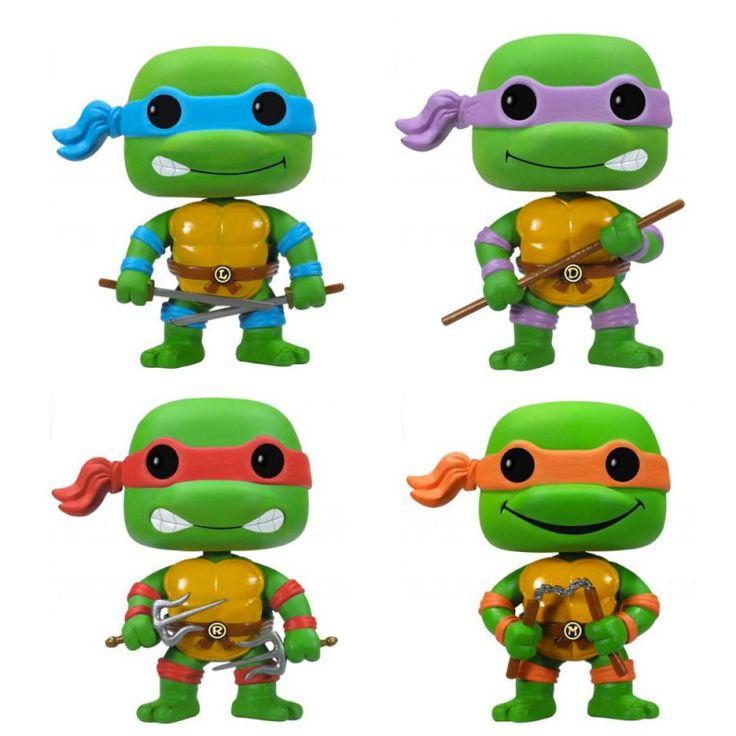 Retrouvez les Tortues Ninja en format POP de chez Funko. Leonardo, Raphel, Donatello ou Michelangelo, au choix.