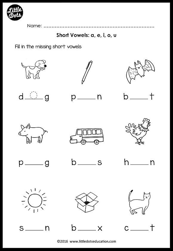 graphic relating to Printable Short Vowel Worksheets identify Pin upon Preschool functions