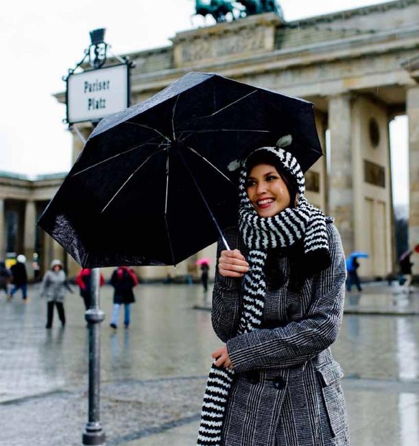 Ein Zebra steht im Regen!