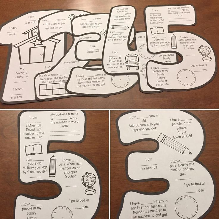 FREEBIE- Math About Me Pages, 1st - 5th grade- great for notebook covers or bulletin board displays- head over to my store to go pick up these freebies!