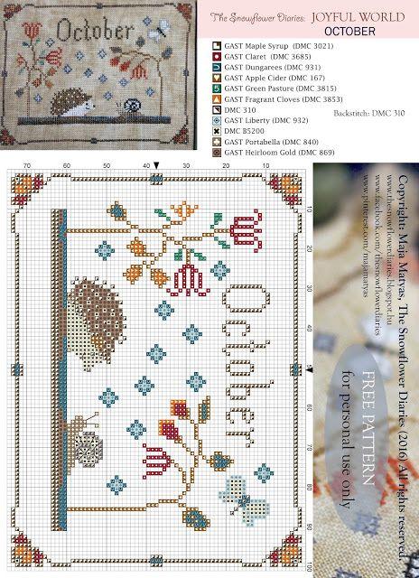 Une grille par mois à vos aiguilles ! ! Creative blog about designing in the…                                                                                                                                                                                 Plus