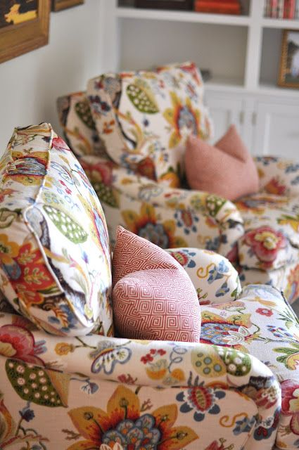 That fabric, I've seen it on a beautiful old chair with dark timber finishes and it's just stunning!