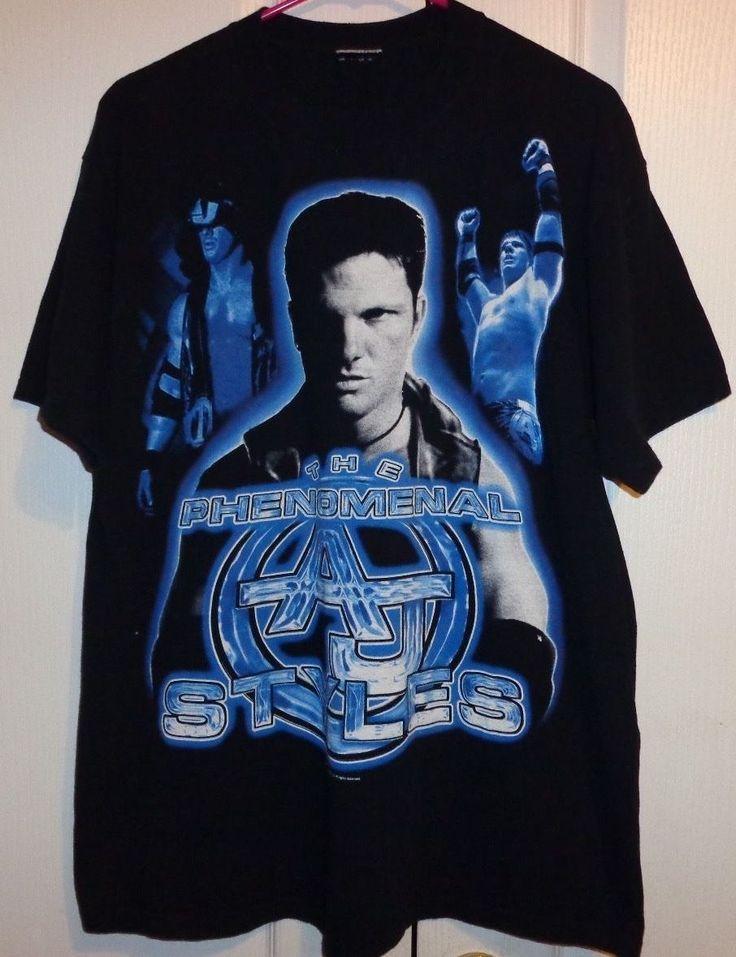RARE! TNA The Phenomenal AJ Styles shirt W@W! L@@K! Sz Large - http://bestsellerlist.co.uk/rare-tna-the-phenomenal-aj-styles-shirt-ww-lk-sz-large/