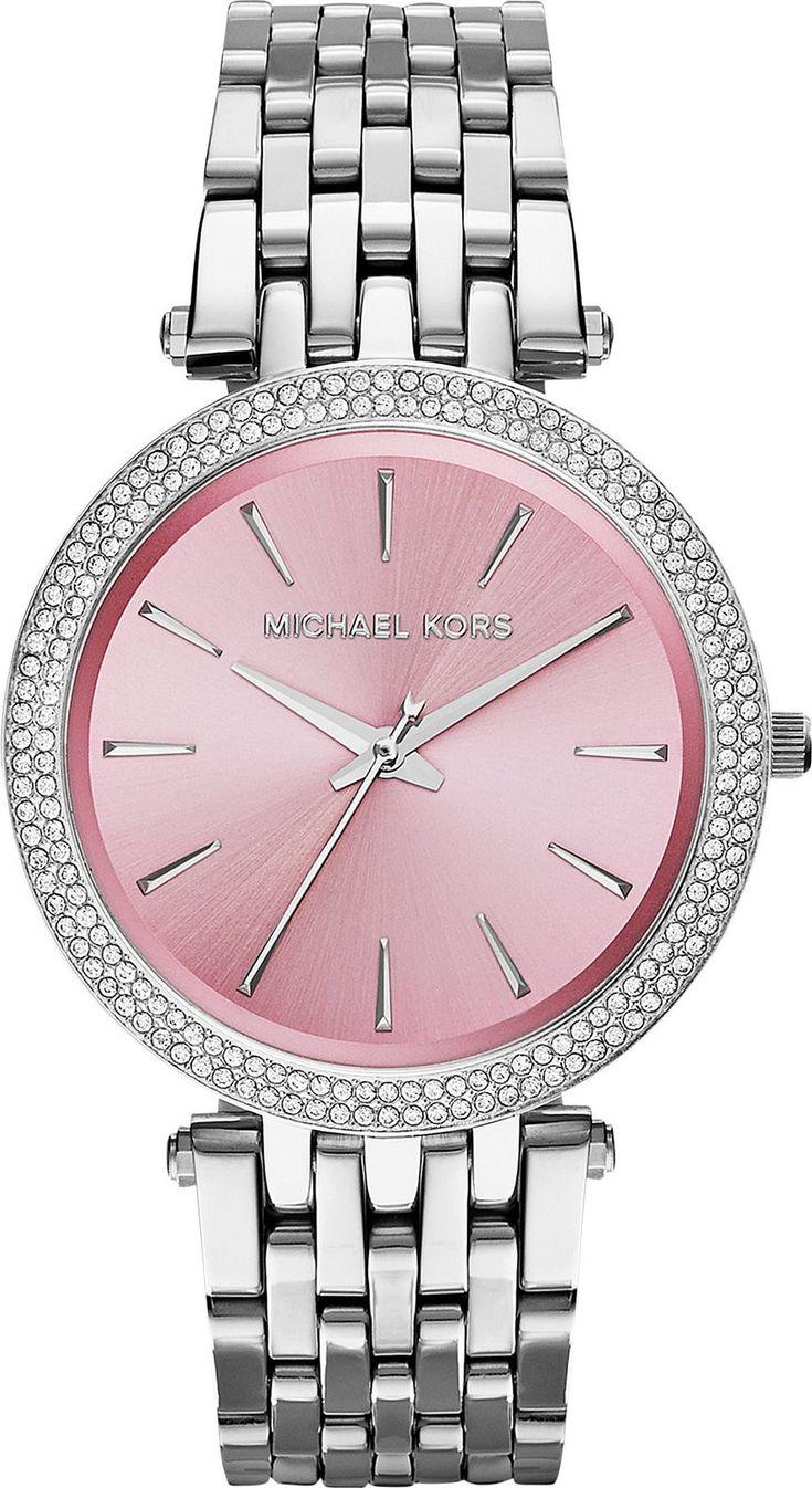 MICHAEL KORS Darci Pink Dial Stainless Steel Ladies Watch MK3352