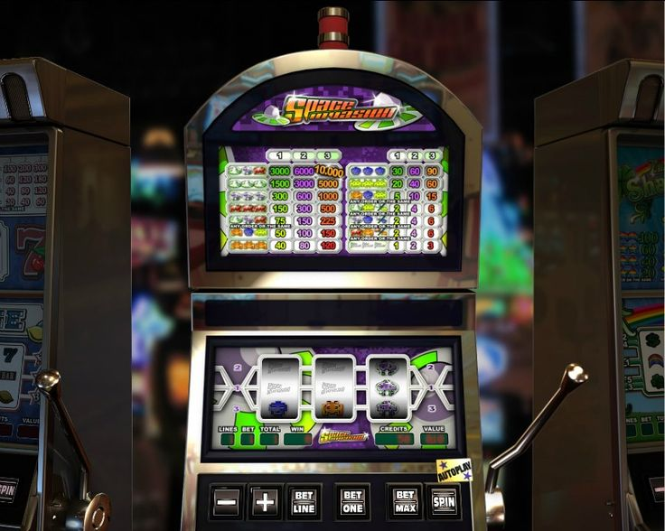 Space Invaders! Classic 3 reel slot! For more games, register on http://casino-goldenglory.com/