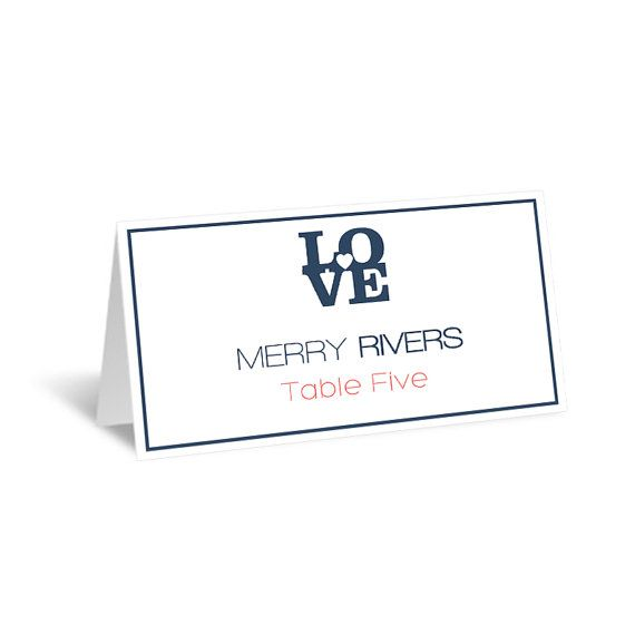 Best 25 printable wedding place cards ideas on pinterest wedding place card template navy love heart foldover printable escort card affordable editable pdf template avery 5302 diy you print pronofoot35fo Gallery