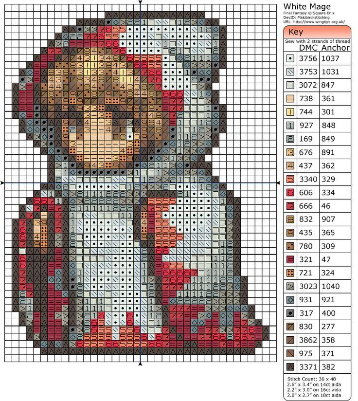 Final Fantasy – White Mage » Birdie Stitching