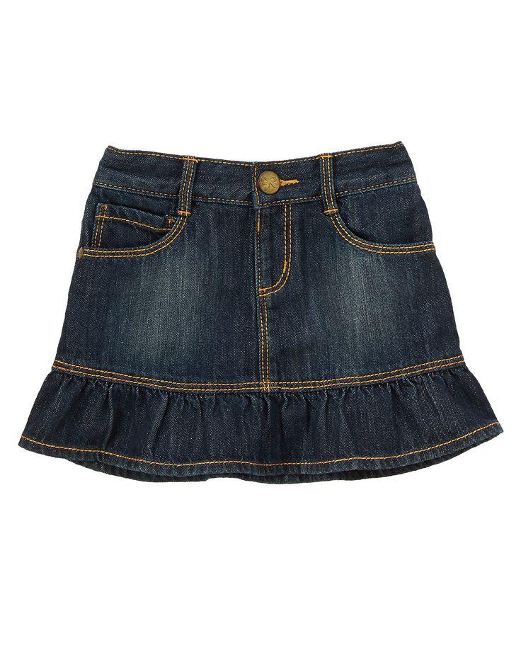 Denim Skirt Ruffle 56