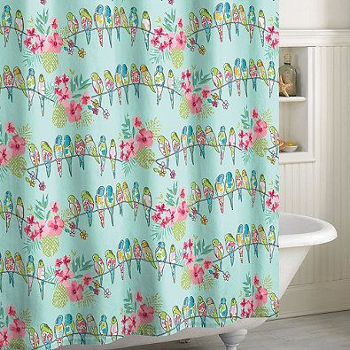 Tropical Bird Shower Curtain BED BATH AND BEYOND