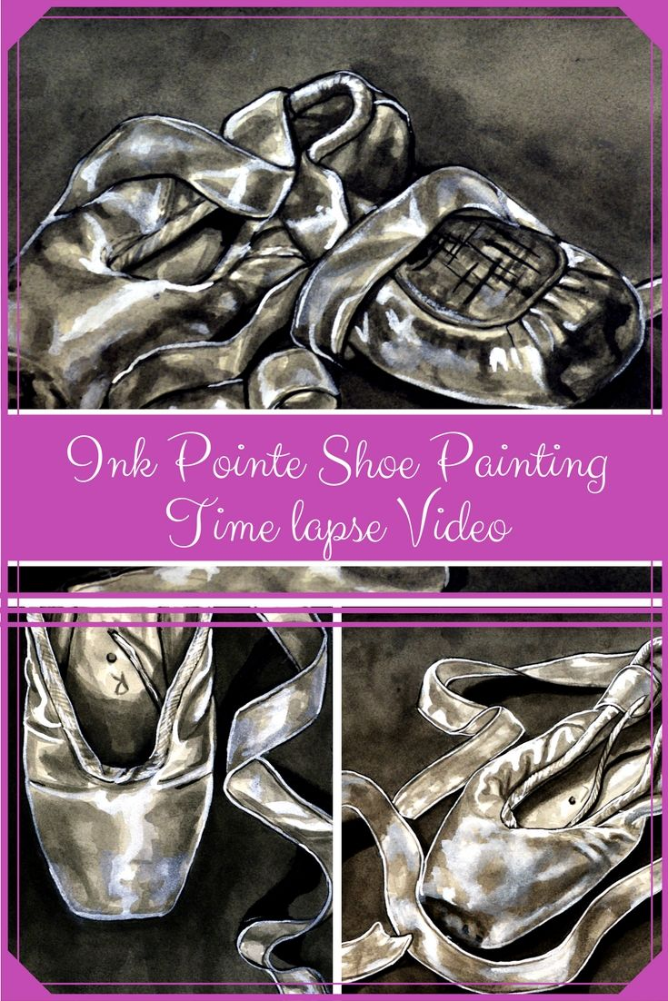 Pointe shoes II - Timelapse Painting - Artfully Creative Life
