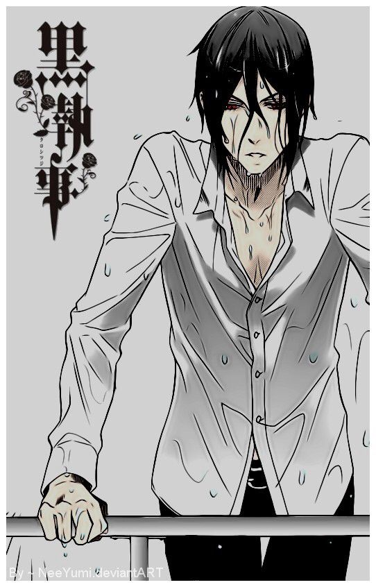 "Sebastian Michaelis is from black butler he's is a so sexy demon butler!! And a ""one hell of a butler""❤️❤️"