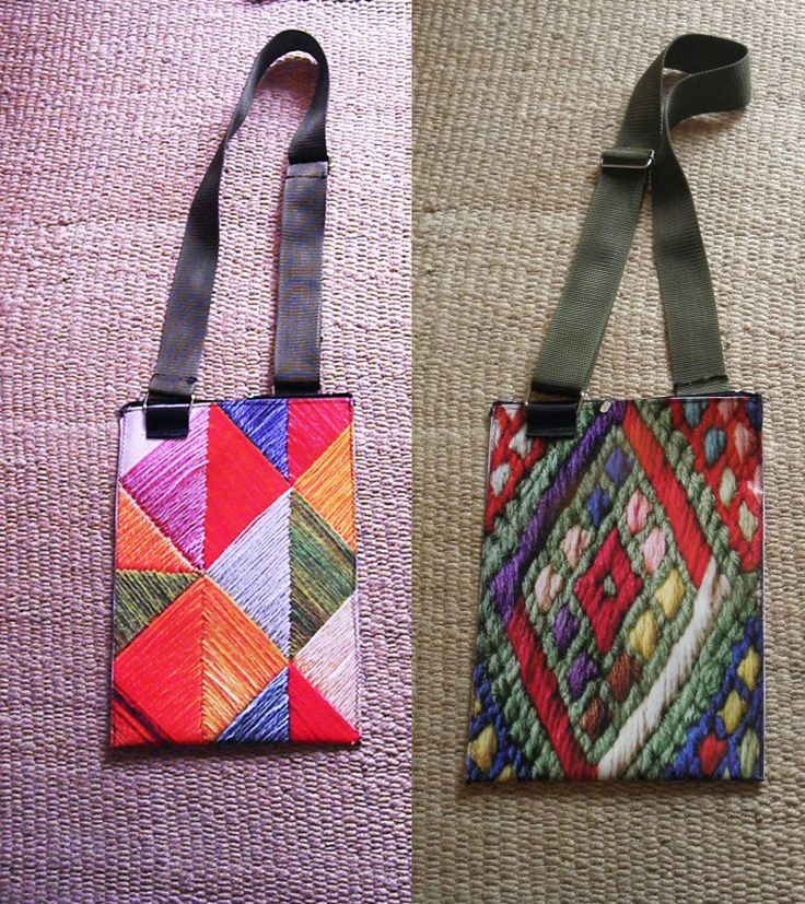 PLASTIC BAG  WITH A PRINTED EMBROIDERY,  TWO SIDES, WATERPROOF