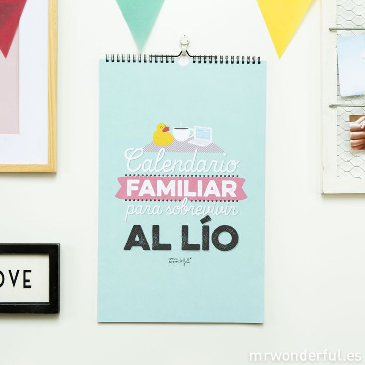 Mr.Wonderful: Calendario de pared familiar 2015 para sobrevivir al lío. #2015calendar #family