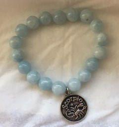 Excited to share the latest addition to my #etsy shop: On Sale - Only 1 Left - Scorpio - Aquamarine bracelet - Reiki Healing Bracelet #jewelry #bracelet #blue #birthday #round #aquamarine #gemstone #healingjewelry #reikijewelry