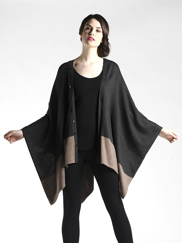 Adjustable Poncho - This one is fully customizable!  Play with the centre seam of buttons to create several different looks, from simple scarf, poncho, capelet, and more!
