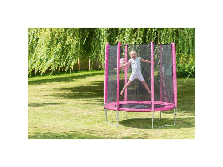 Plum 6ft Trampoline and Enclosure in Pink