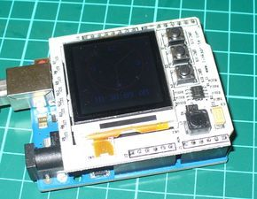 Arduino Color LCD shield fitted
