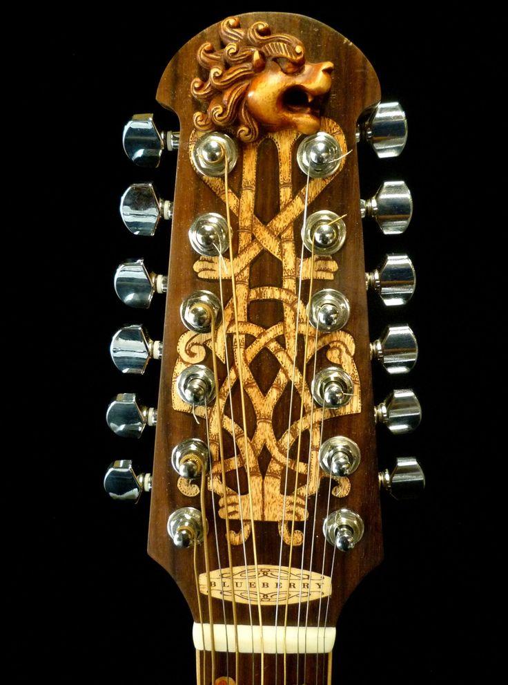 "Blueberry ""Celtic"" Motif 12-String Acoustic Guitar"