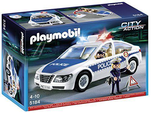 Playmobil – 5184 – Jeu de Construction – Voiture de Police avec Lumières Clignotantes: Tweet Les policiers sont appelés en urgence et se…