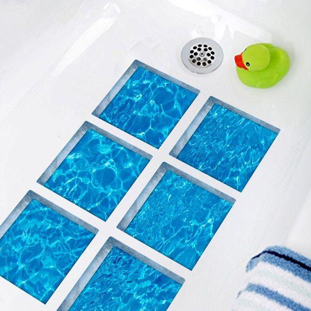 Funlife 3d Bathtub Stickers Anti Slip Waterproof Self Adhesive Tub