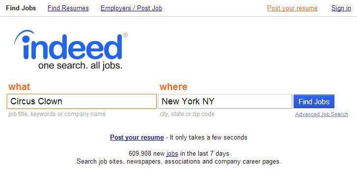 What do you think?  - indeed resume search