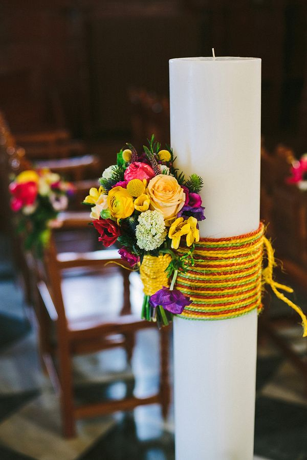 bright floral wedding decor