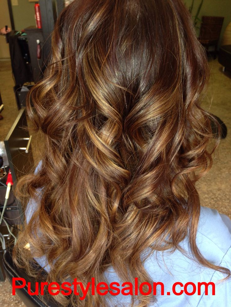 Dark brown with caramel highlights