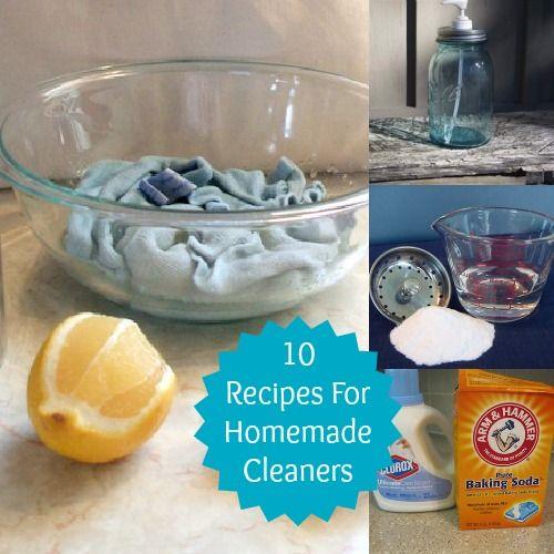 10 DIY Homemade Cleaner Recipes via @babbleeditors