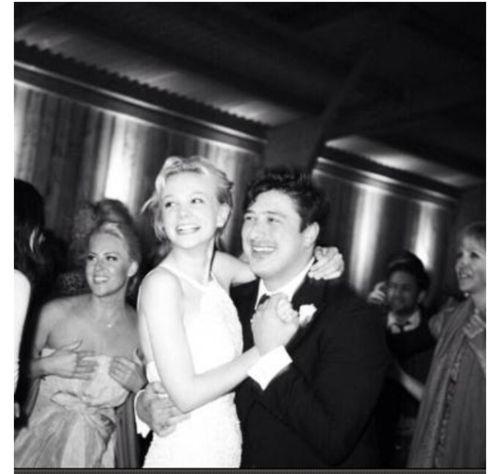Carey Mulligan and Marcus Mumford at their wedding.