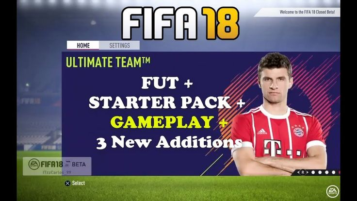 New Fifa 18 New 3 ADDINGS Ultimate Team FUT GAMEPLAY and New MODES Closed Beta 00:08 Fifa 18 New All Game MODES Ultimate Team  Pro Clubs  New Career Manager Career Player Career 00:21 Choose Starter Pack ( Between countries England Brazil France Argentina Germany Italy Spain Portugal Netherlands ) 00:39 Starter Pack Opening 00:59 Ultimate Team FUT Squad 01:31 Choose Loan Player 01:49 Choose Your Kit 02:11 Choose Your Badge 02:21 Club Summary 02:49 Claim Reward 02:58 Difficulty Selection (…