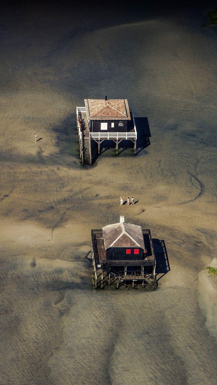 Le Bassin d'#Arcachon vu du ciel, en hélicoptère - Août 2013