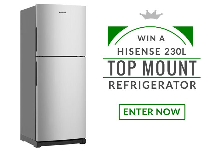 Hey there, I just entered to Win a Win a Hisense 230L Top Mount Refrigerator! Enter now for your chance!