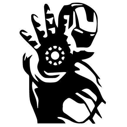 Vinyl Decal Sticker - Iron Man Decal for Windows, Cars, Laptops, Macbook, Yeti, Coolers, Mugs etc