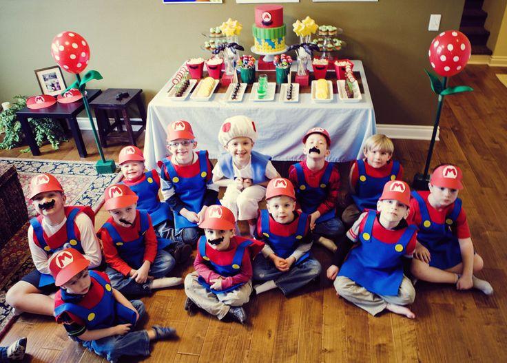 Mario Bros. Party - Cake Paper Party