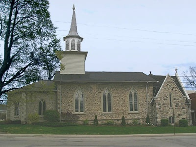St James Anglican Church, Paris, Ontario. Grew up here and was married here.
